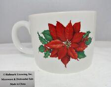 New listing Hallmark Christmas Poinsettia & Holly Mug
