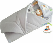 Gigoteuses et nids d'anges gris velours pour bébé