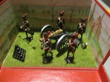 C.B.G. Glossy 54mm Napoleonic French artillery set/display