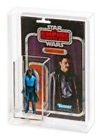 1 x GW Acrylic Display Case -Vintage Star Wars Loose Figure & Cardback (ADC-010)