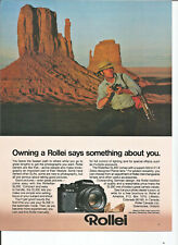 Vintage 1980 Rollei SL35E Camera Photography Original Magazine Print Ad