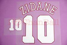 Zidane #10 1996 France Homekit Nameset Printing