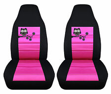 nice set owl design front Car Seat Covers black/hot pink,more colors to choose