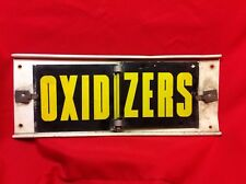Vintage Semi Truck OXIDIZERS/DANGEROUS Sign Hazardous Materials Warning
