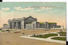 new union station cost 6 million to build   ,kansas city missouri early postcard