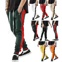 Mens Track Pants Casual Sports Jogging Bottoms Joggers Gym Sweats Trousers US