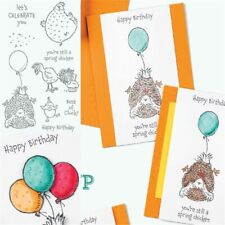 Birthday Chick Chicken Stamps Embossing Scrapbooking Decoration Crafted Supplies