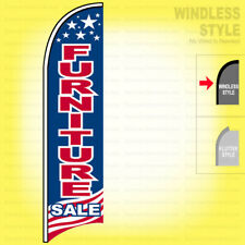 Furniture Sale - Windless Swooper Flag 2x11.5 ft Feather Banner Sign Usa bb