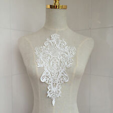 White Lace DIY Embroidered Sew Iron on Patch Badge Bag Dress Applique Pop