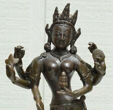 NEPAL TIBET BUDDHISM BRONZE Standing Tara Kwan-yin Bodhisattva Guan Yin Statue
