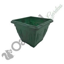 10 x 38cm Quadrato Verde FIORIERA VASO VENEZIANO FLOWER GARDEN PATIO IN PLASTICA