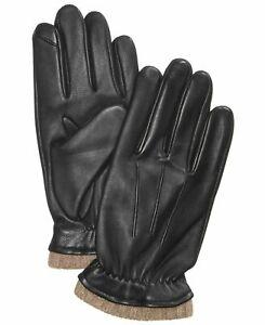 Club Room Winter Gloves Black Size Medium M Cashmere Leather Accessory $98 #325