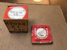 Honda PC50 P50 1969 1970 1971 Piston & Rings Set O/S 0.50mm 13101-081-000 N.O.S