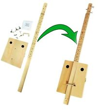 Complete Fretted 3-string DIY Cigar Box Guitar Kit - VERY easy to assemble!