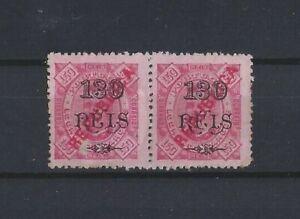 L. Marques Mozambique MH #138 pair D Carlos 130/150 Republica no serif defective