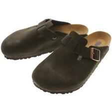 BIRKENSTOCK BOSTON BS Mocha Suede LEATHER Cloggs shoes slides UK10.5 US12 EU45