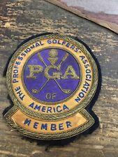Vintage PGA Professional Golfers Association Member Bullion Patch
