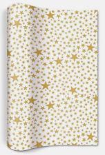 *Weihnachten*Tischläufer*weiß&gold Sterne*Starlets gold white*25x400cm