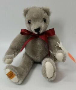 """limited edition Merry Thought 6"""" gray Bear #365 of 500"""