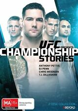 UFC Presents: Championship Stories NEW R4 DVD