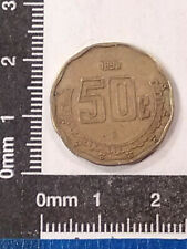 1998 (18/19) 50 CENTAVOS COIN MEXICO (ERROR COIN) KM-549 *