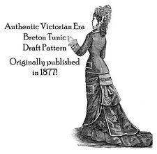 Victorian Tunic Overskirt Pattern Draft Tailor's 1877 Historic Reenactment DIY