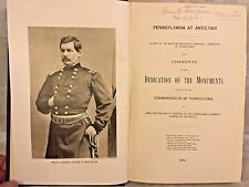 Pennsylvania at Antietam Dedication of the Monuments 1906 1st Edition Map There