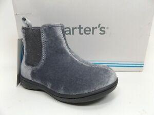 Carter's Toddler Girls Grey France2 Velvet Zipper Up Ankle Boots SZ 6 T,  D13831