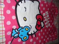 NEW H&M Hello Kitty Girls SHIRT TOP size 6-8 PINK POLKA DOTS