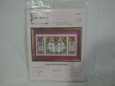 Counted Cross Stitch Kit Antique Stained Glass Panel Art Stitch New (4C1)
