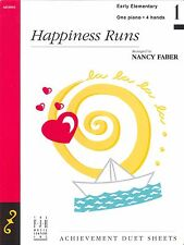 Happiness Runs Early Elementary Level 1 Piano Duet Sheet Music 4 Hands Faber