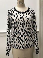 Sonia Rykiel Animal Print Cardigan, Cream / Black, Size XL