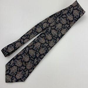 Giacomo Italia Neck Tie Paisley Print Navy Blue