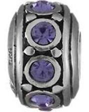 I-30 Authentic Chamilia Sterling Silver Bead June Birthstone Purple