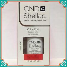 CND SHELLAC CREAM PUFF ~ french white UV LED Gel Polish Ltd Ed LARGE SIZE .5 oz