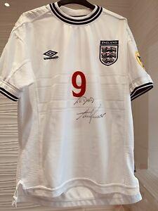Signed Alan Shearer England shirt Euro 2000 Shirt