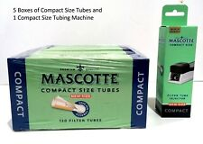 Mascotte Make your Own Compact Slim 600 Cigarette Tubes 5 boxes +Tubing Machine