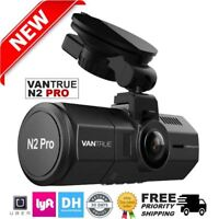 Vantrue N2 Pro Front & Back Infrared Nightvision Dual Dash Cam HD Camera 256GB!