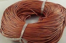 1,5 mm mocasines de cuero Cable 5 Metros, la fabricación de joyas, Sandy marrón