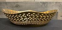 Vintage Brass Look Metal Decorative Bowl Planter Trinket Holder Catch All