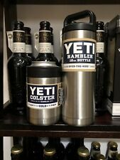 Yeti Coolers Colster Can Holder (Koozie) & 18-ounce (oz) Rambler Bottle New