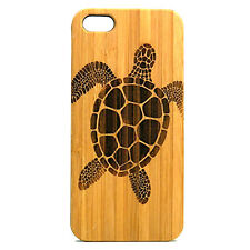 Sea Turtle Case made for iPhone 8 phones Eco-Friendly Durable Bamboo Wood Cover