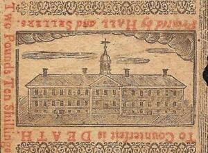 1775 WALNUT ST PRISON JAIL NOTE PENNSYLVANIA COLONIAL CURRENCY PA-175 EF
