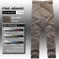 FOX JEANS Men's Baron Casual Work Pants Mens Cargo Pants SIZE 42-Dark Khaki