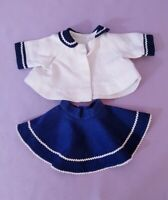 ANTIQUE / VINTAGE  DOLL JACKET & SKIRT c1950