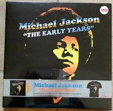"Michael Jackson ""The Early Years"" Limited Ed.  Vinyl & T-Shirt New Sealed Set MD"