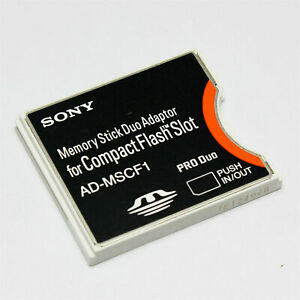 Sony Memory Stick PRO Duo to CompactFlash CF Card Type II Slot Adapter Converter