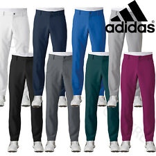 Adidas Golf Ultimate 3-Stripe Water Resistant Trousers Mens Slim Fit Pants