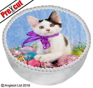"PRE-CUT EASTER CAKE E XII. TOPPER 7"" / 18CM EDIBLE WAFER PAPER PARTY DECORATION"