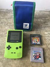 Lime Nintendo Game Boy Colour Color Case & Martian Revenge Super R.C Pro AM